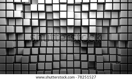 abstract smooth white metallic cubes as background 3d - stock photo