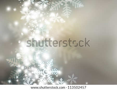 Abstract snowflakes background for winter and christmas theme