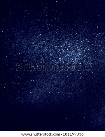 abstract space background, large cluster of stars, nebula.