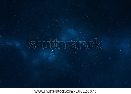 Abstract space background - Starry night universe and galaxy, the Milky way