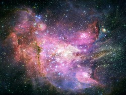 Abstract space fantasy background