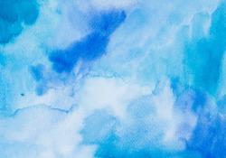 Abstract Space hand painted watercolor background. Colorful template. There is blank place for your text, textures design art work or skin product.