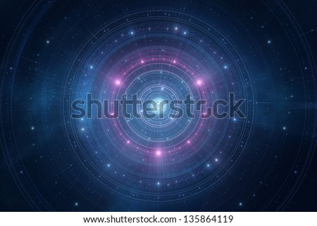 Abstract space stars futuristic new age background
