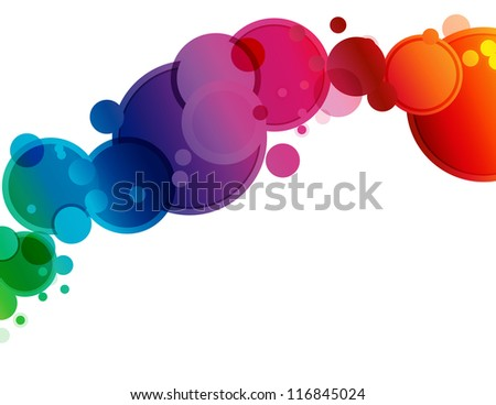 Abstract Spectrum Circle Background - Abstract background of circles in spectrum colors and bokeh transparency