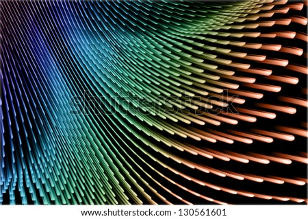 Abstract speed technology background, fiber optic abstract