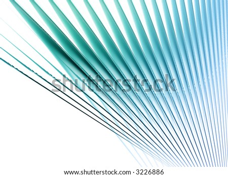 abstract spokes or book pages on white background