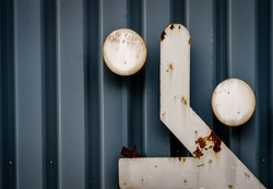 abstract sport steel grey blue background with rust concept unfit.