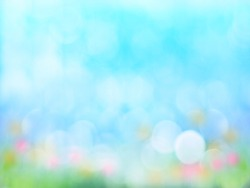 Abstract spring season blur background with bokeh.