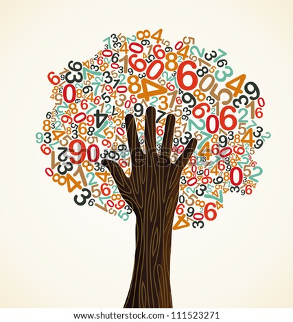 Abstract spring time tree composition with flowers. - stock photo