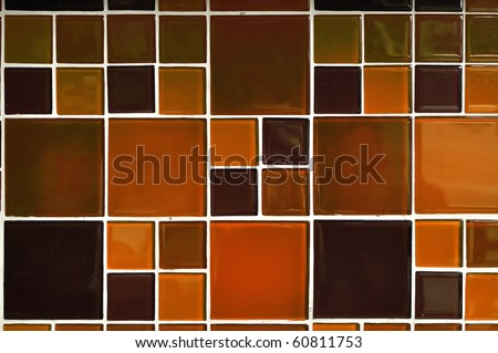 Abstract square pixel mosaic background [Modern glossy tile]