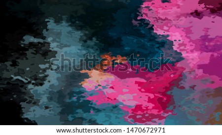 abstract stained pattern texture rectangle background dark ocean blue and hot pink magenta color - modern painting art - watercolor splotch effect