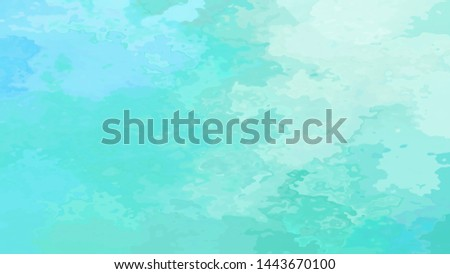 abstract stained pattern texture rectangle background mint green blue color - modern painting art - watercolor splotch effect