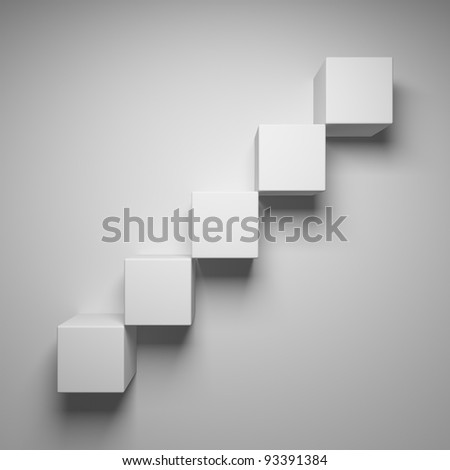 Abstract stairs of the cubes