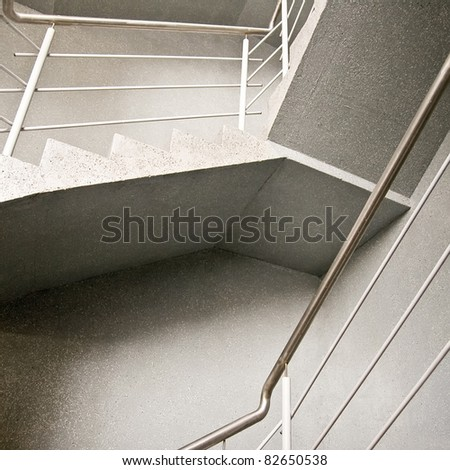 Abstract stairway composition