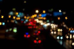 Abstract Star bokeh
