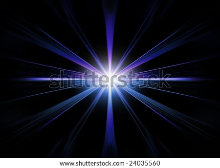 Abstract star flare