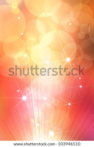 Abstract star golden background