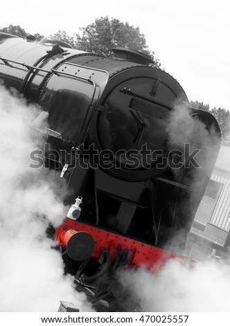 Abstract steam train #470025557