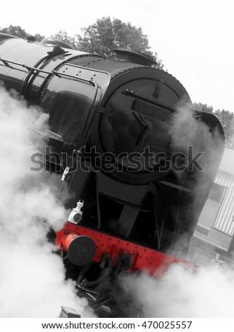 Abstract steam train #470025557