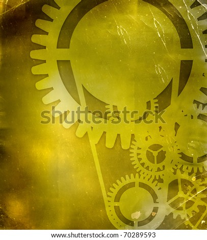 abstract steampunk industrial background