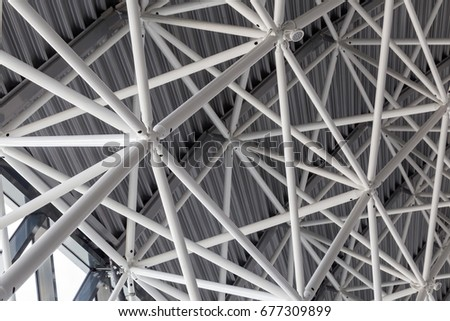 Abstract steel structure - Shutterstock ID 677309899