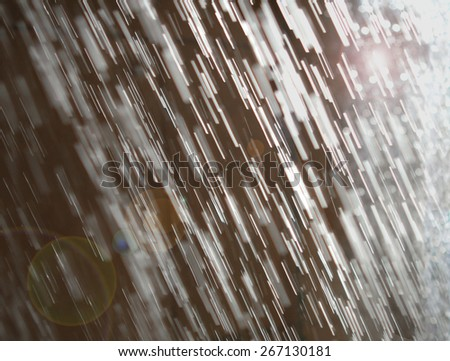 Abstract Streams of Falling Water