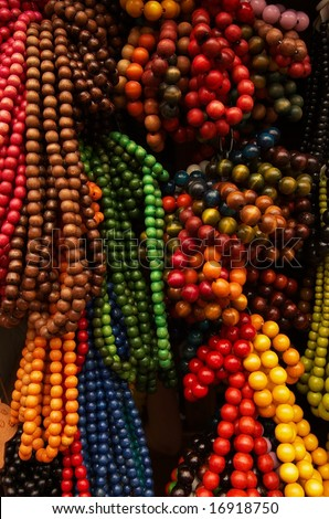 Abstract strings of beads