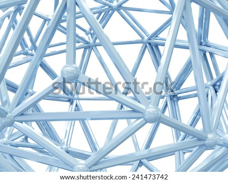 Abstract structure isolated on white background. - Shutterstock ID 241473742