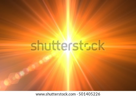 Abstract sun burst with digital lens flare background #501405226