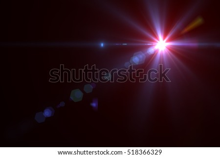 Abstract sun burst with digital lens flare background #518366329
