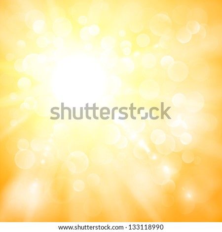 Abstract sun illustration with defocused lights - raster version