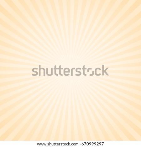 Abstract sunshine bakground. Striped orange background similar to retro poster.