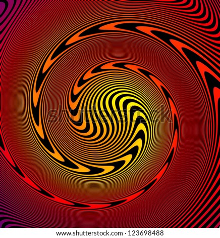 Abstract swirl background pattern - arrows in circle - stock photo