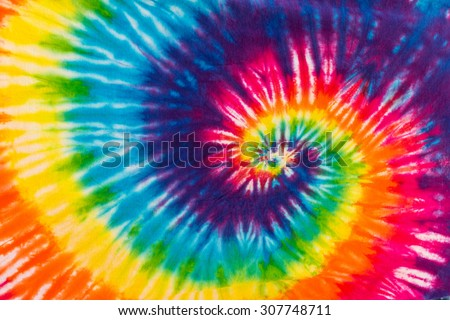 Abstract Swirl Design Tie Dye #307748711