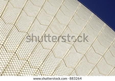 Abstract Sydney Opera House - stock photo