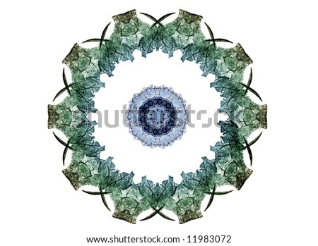 abstract symmetric flame on the white background