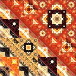 Abstract Symmetrical fractal Geometry Art colorful Pattern