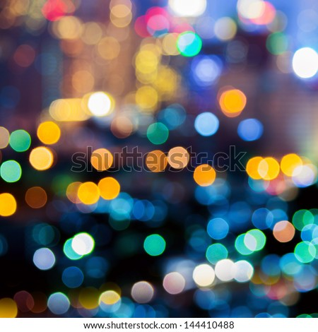 Abstract take of colorful Christmas lights, a background