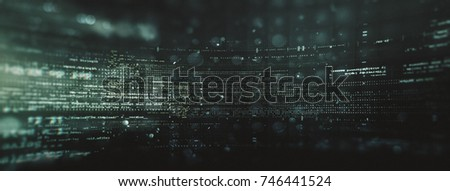 Abstract tech background. Floating Numbers HUD Background. Matrix particles grid virtual reality. Smart build. Grid core. Hardware quantum form.