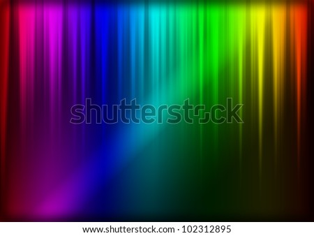 abstract techno background with colors and lights - stock photo