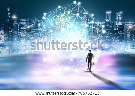 Abstract technology background. Global network business marketing. World wide business concept