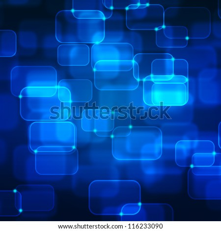 Abstract technology background. Useful as high technology background in blue color.