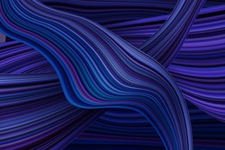 Abstract technology background with dynamic shapes. Abstract banner with colorful shapes. Fluid and wavy threads.