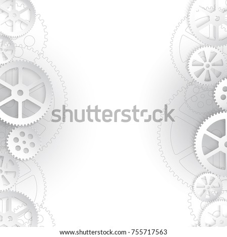 abstract technology background with gears, illustration clip-art
