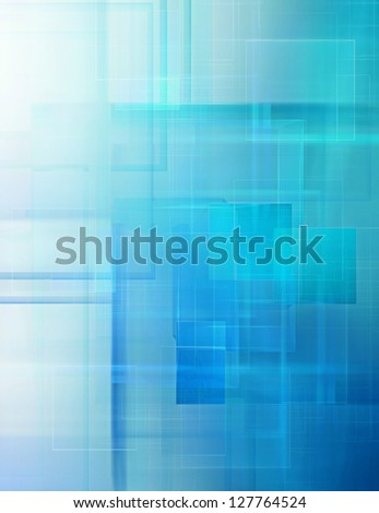 abstract technology background with squares - stock photo