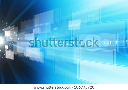 Abstract technology blue lines  background.