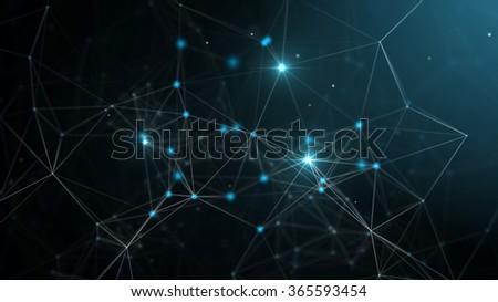 Abstract technology futuristic network - fantasy plexus background
