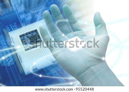 Abstract technology of the computer.