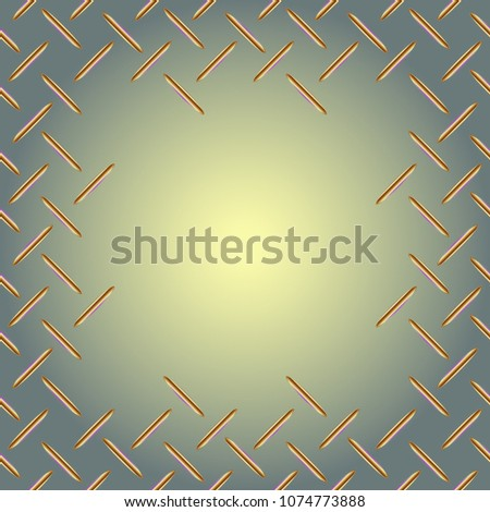 Abstract tender frame with ornament of mixed lines.
