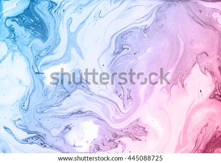 Stock Photo Abstract texture. Beautiful unique handmade background. Marbled surface. Mixed paints on wet white paper. Soft pastel colours. Flowing ink.